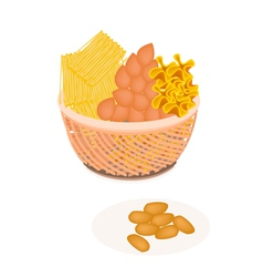 Traditional Thai Dessert Golden Sweet Meat vector image