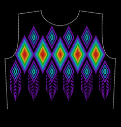 a pattern for embroidery the neck of clothing vector image