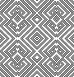monochrome geometric knotted seamless pattern vector image