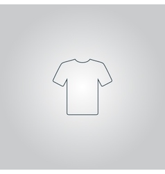 Tshirt Icon Flat design vector image