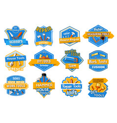 work tool isolated badge set home repair design vector image