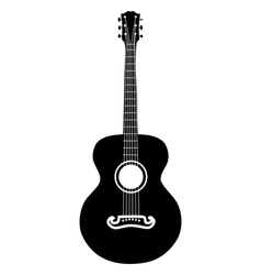 Acoustic guitar silhouette vector image vector image