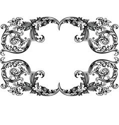 antique vintage frame vector image