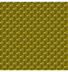 Chinese gold seamless pattern dragon fish scales vector image