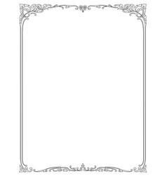 floral border pattern frame vector image vector image