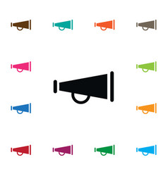 isolated bullhorn icon alert element can vector image vector image