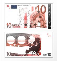 ten euro grunge trace vector image vector image