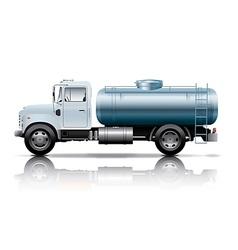 White tanker truck vector