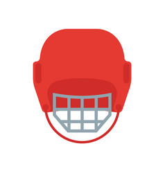 A hockey helmet vector