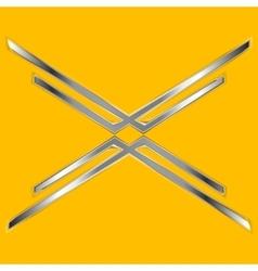 Abstract arrows metallic design vector