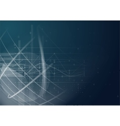 Abstract geometric technology graphic elements vector image