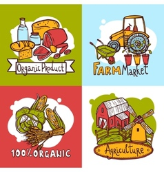 Agriculture Design Concept vector image