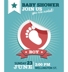 Baboy shower invitation card vector