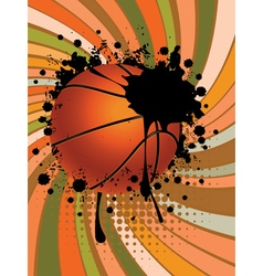 Basketball Ball on Rays Background2 vector image