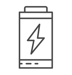 battery energy icon outline style vector image