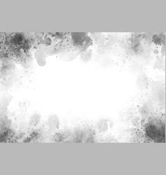 Beautiful gray watercolor splash textured grunge vector