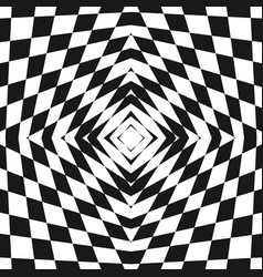 Black and white geometric checkered pattern vector