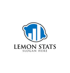 blue lemon and business consulting logo design vector image