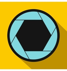 Camera aperture icon in flat style vector image