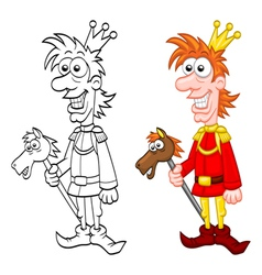 Cartoon charming prince vector image
