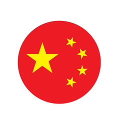 China flag icon vector