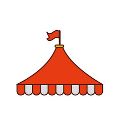 circus tent isolated icon vector image
