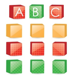 color cubes vector image
