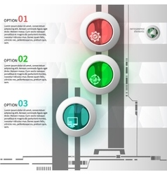 colorful glass infographics vector image