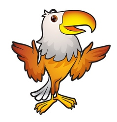 Cute eagle mascot vector