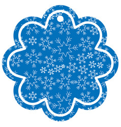 Decorative christmas label shape flower snowflake vector