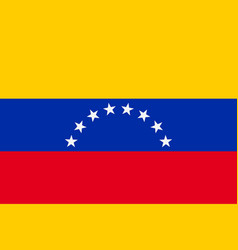 Flag of venezuela vector