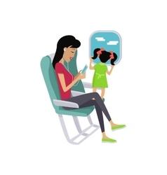 Flight Travel Concept in Flat Design vector