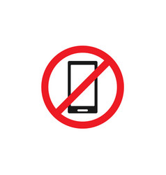 forbidden phone icon design template isolated vector image