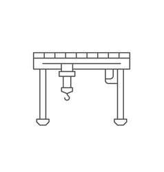 gantry crane line outline icon vector image