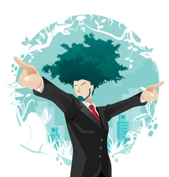 Green business concept vector