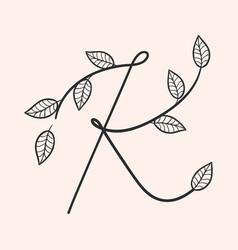 handwritten letter k monogram or logo brand vector image