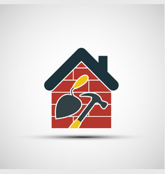 icon construction vector image