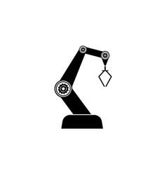 Industry robot icon black vector