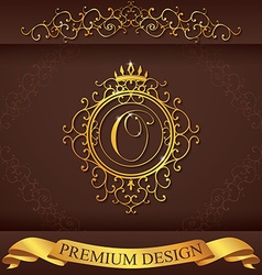 Letter O Luxury Logo template flourishes vector image