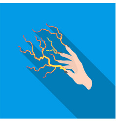 Lightning spell icon in flate style isolated on vector
