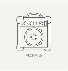 line flat icon musical equipment - guitar vector image