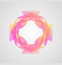 line pattern stylized guilloche colorful vector image
