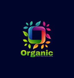 Logo organic gradient colorful style vector