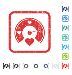 Love gauge icon rubber watermark vector