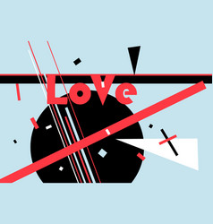 love lettering typography vector image