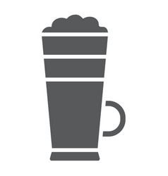 macchiato glyph icon coffee and cafe cream vector image