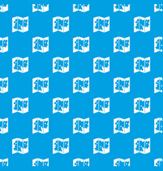 Map pattern seamless blue vector