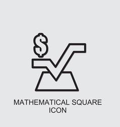 Mathematical square icon vector