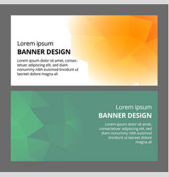 modern abstract banner polygonal background vector image