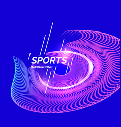 Modern colored banner for sports vector